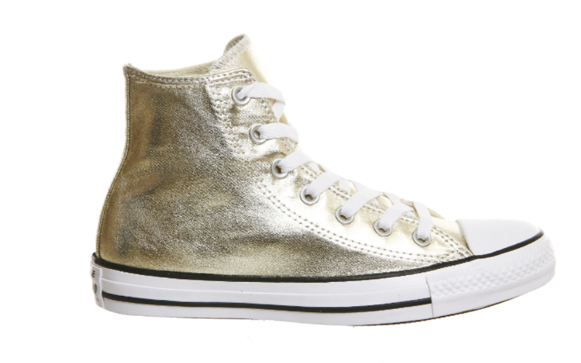 MAMA NEEDS KICKS : TOP 5 TRAINERS YOU NEED NOW | Converse All Star Metallic light gold canvas