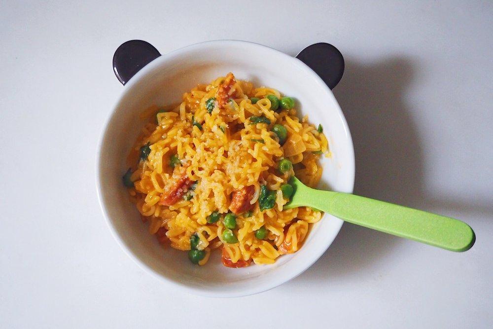 millycundall.com/alphabet pasta with chorizo