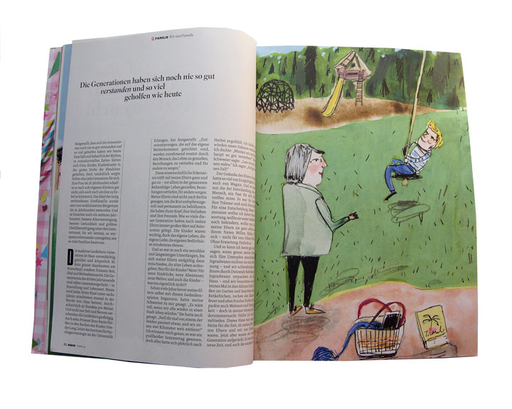 For German magazine Stern  The article is about young families moving closer to the grandparents.