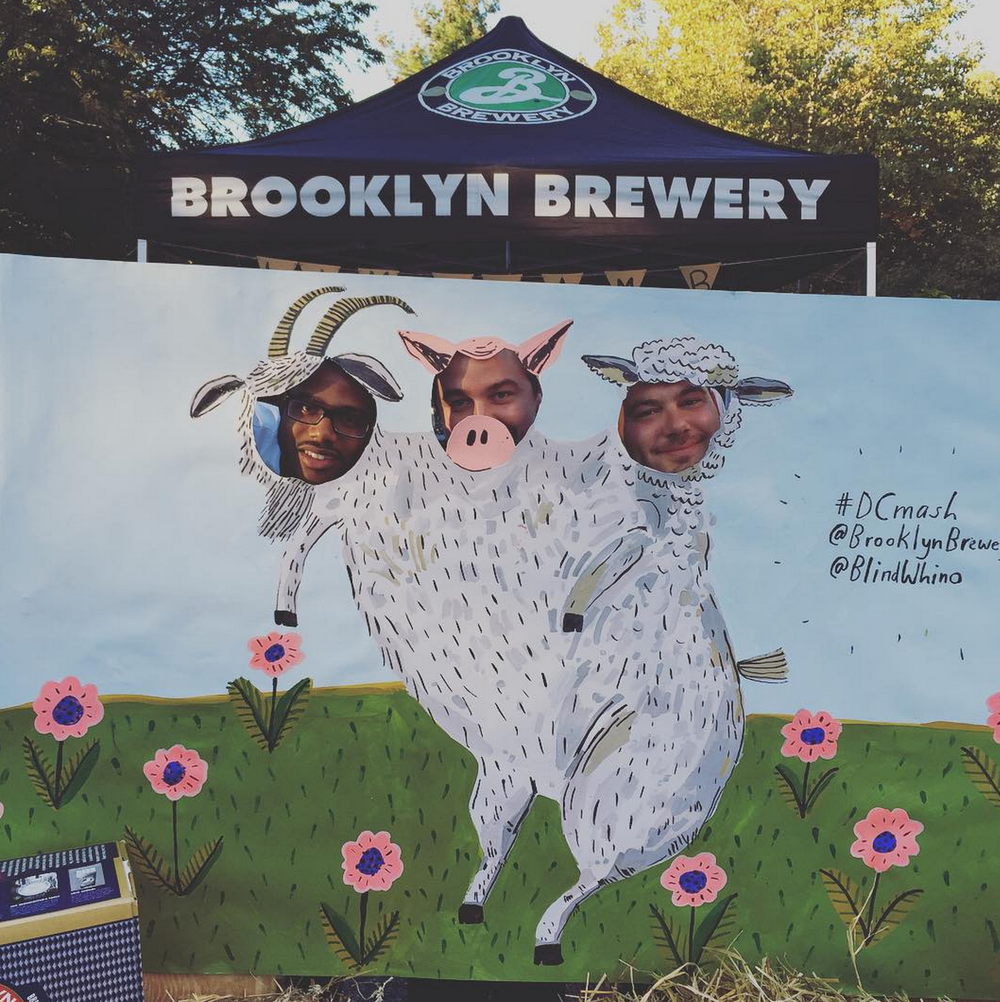 Photo by  Brooklyn Brewery  of the backdrop/ photo prop I made for there  Three Headed Beast event  in DC.