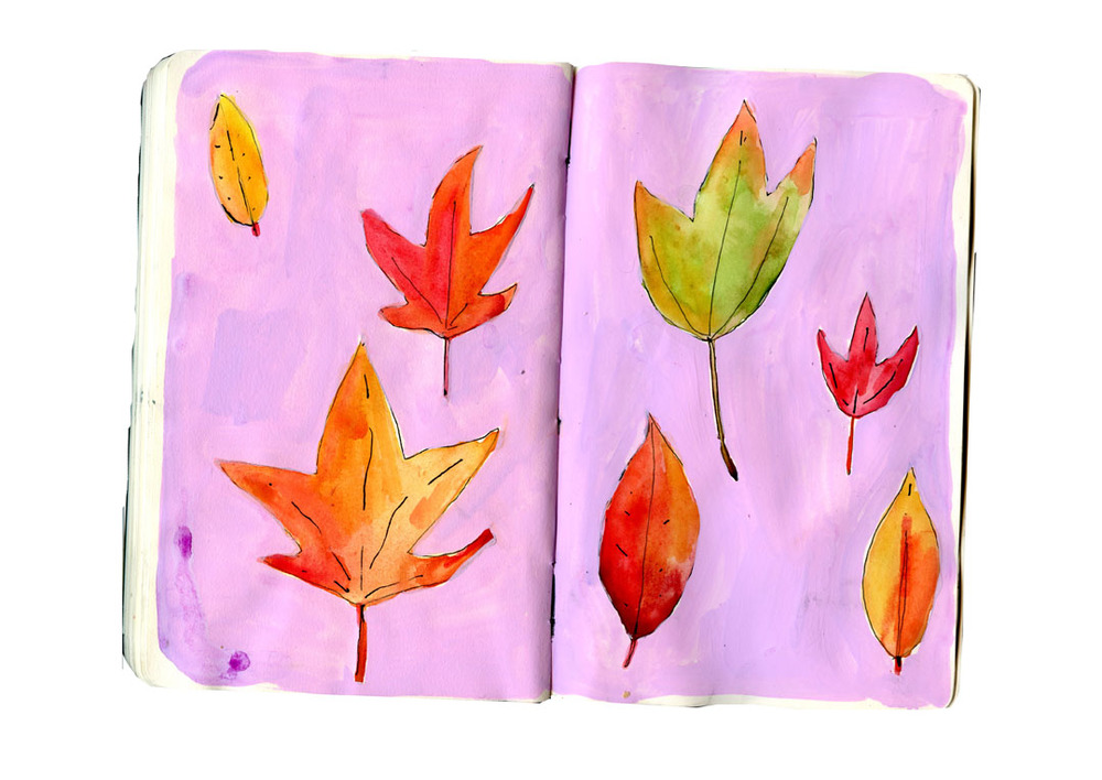 fall leaves sketchbook1