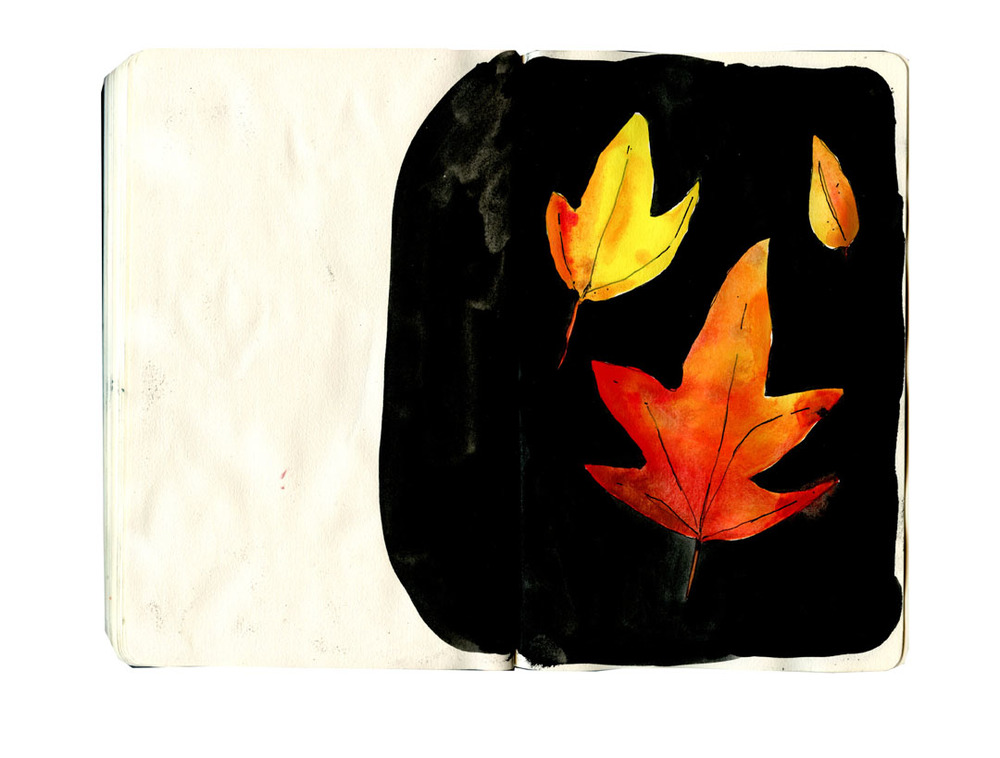 fall leaves sketchbook 2
