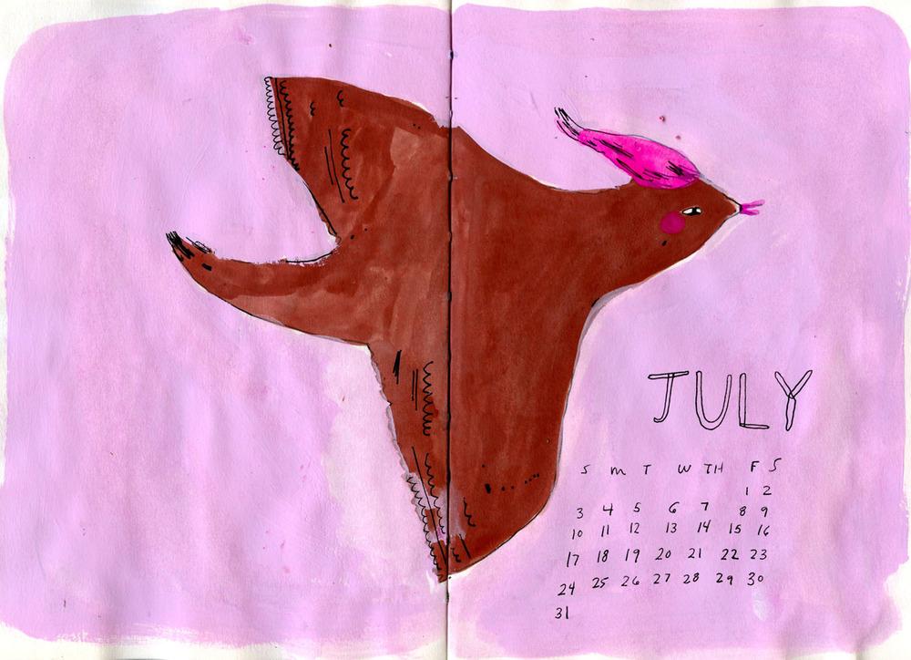 July Calendar Elizabeth Graeber