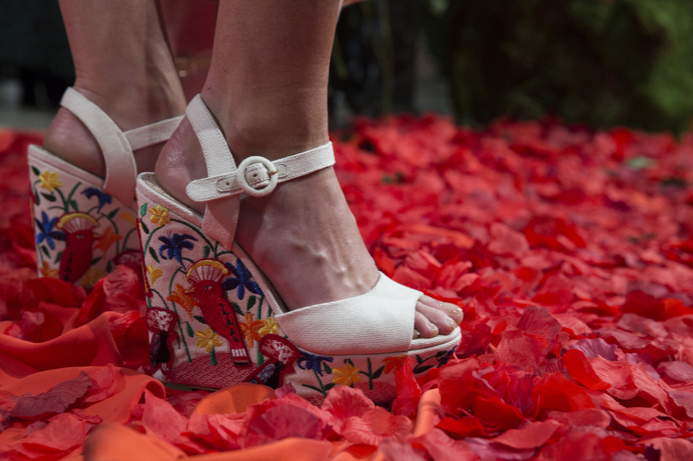 Alice and Olivia sandals, photo from the New York Times