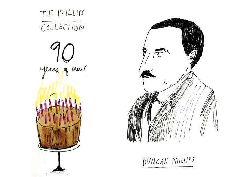 The Phillips Collection, an illustrated guide for visitors during the 90th Anniversary Celebration