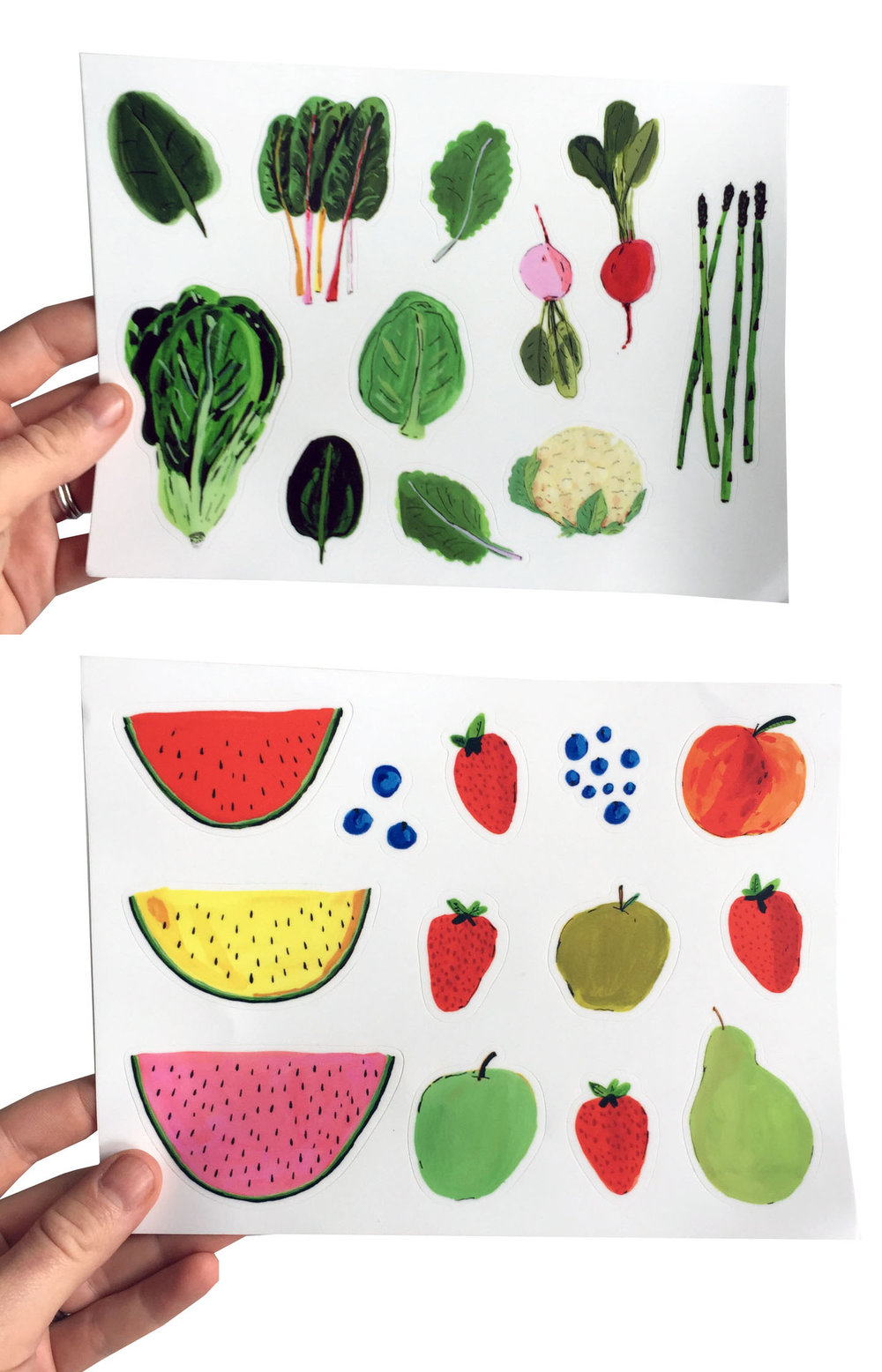 Fruit and Vegetable Sticker sheets