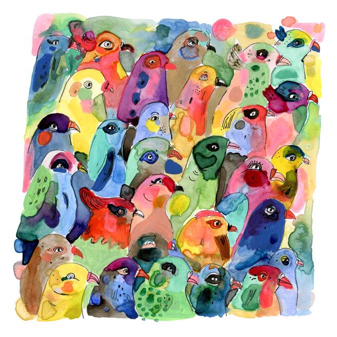 Elizabeth Graeber- bird watercolor