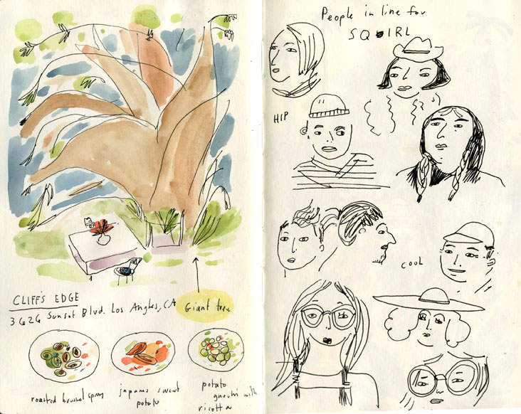 LA Sqirl sketchbook