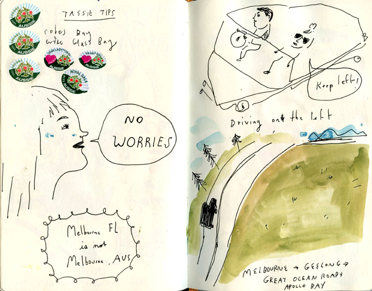 Australia sketchbook
