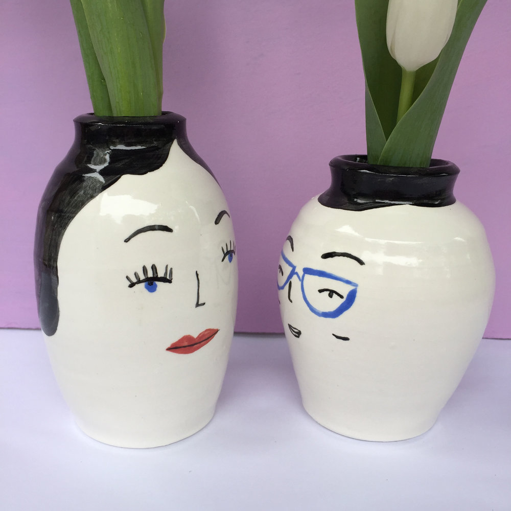 Ceramics face pair