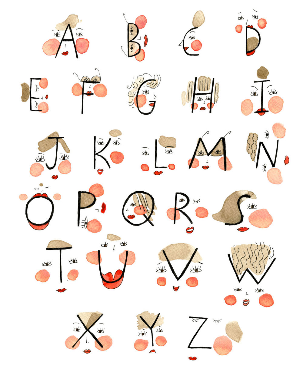 illustrated alphabet print