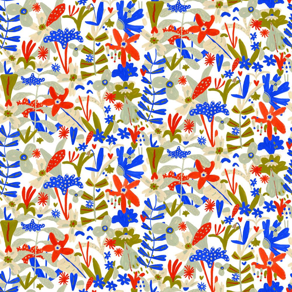 flower pattern- Elizabeth Graeber