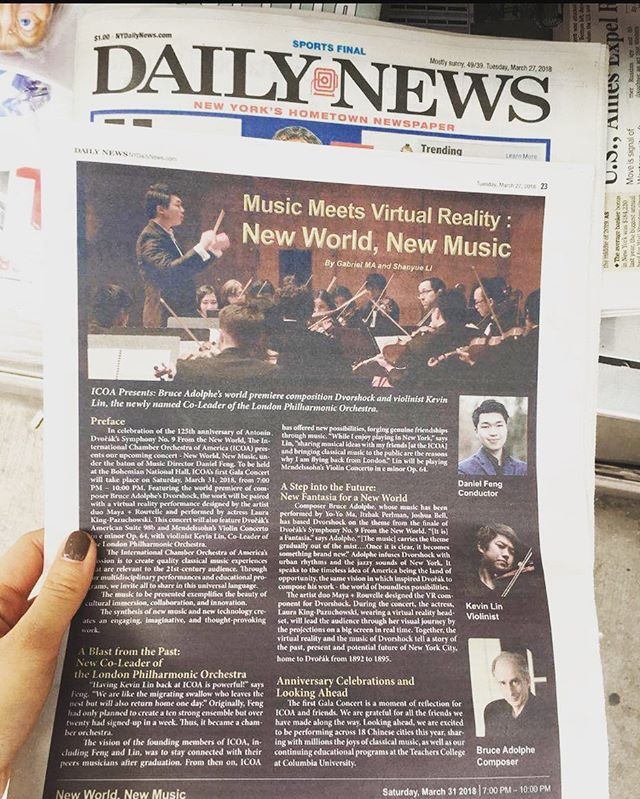 Thank you New York Daily News for the shout out! See you all this Saturday!❤️ . . . . #classicalmusic #newyorkcity #newworldnewmusic #concert #newmusic #nycmusic #musicians
