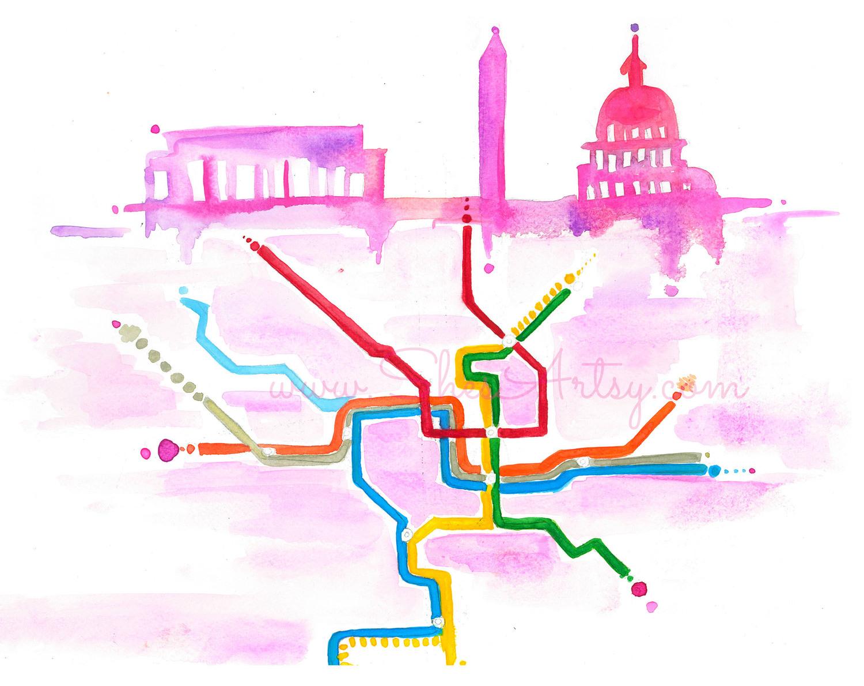 Washington, D.C. - Metro Map —