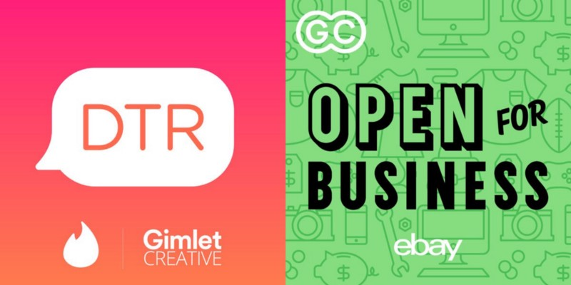 Gimlet Creative shows  DTR  and  Op en for Business