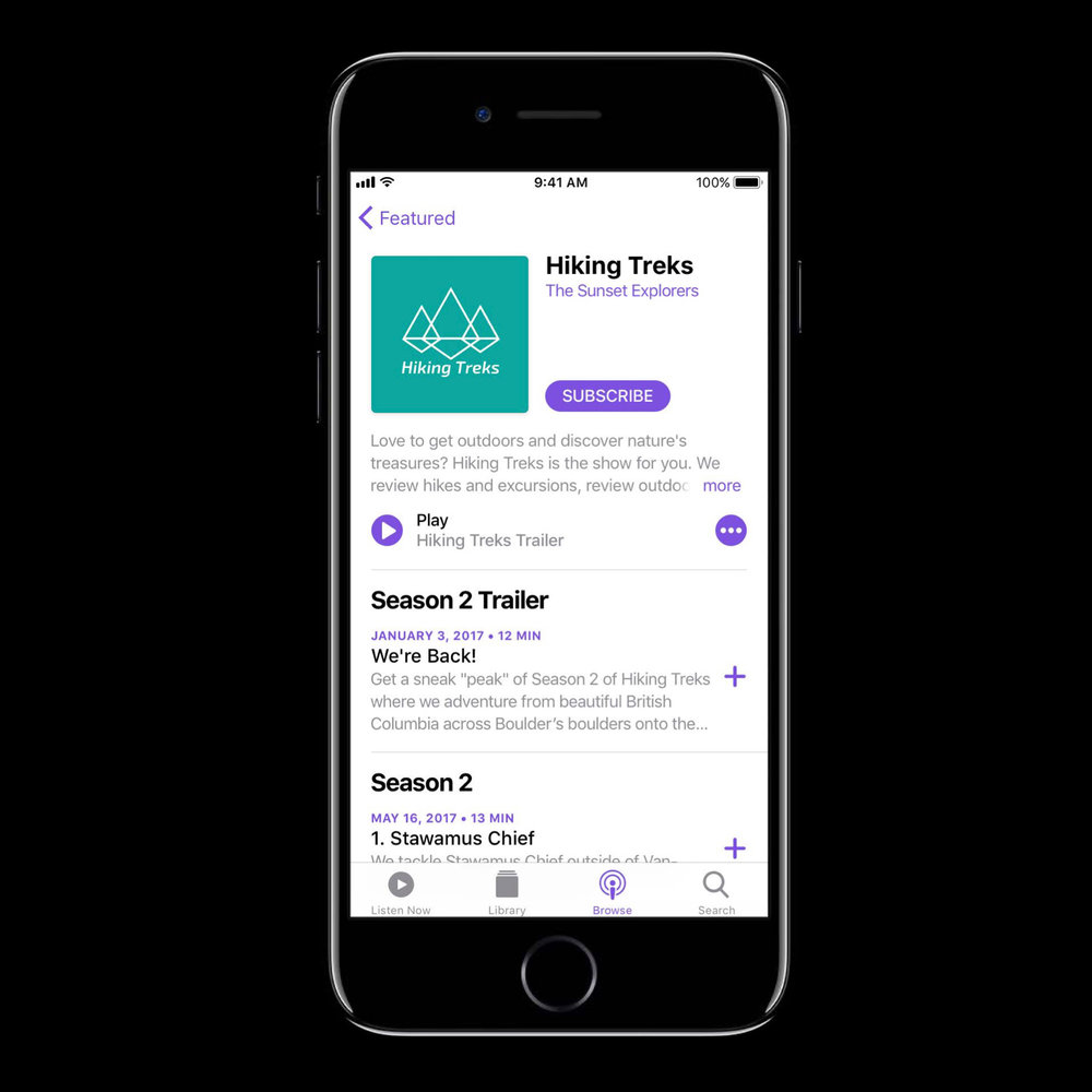 Apple Podcasts in iOS 11 features support for trailers and seasons
