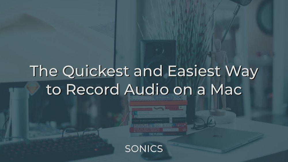 Recording Audio in QuickTime
