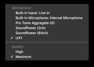 QuickTime Audio Recording