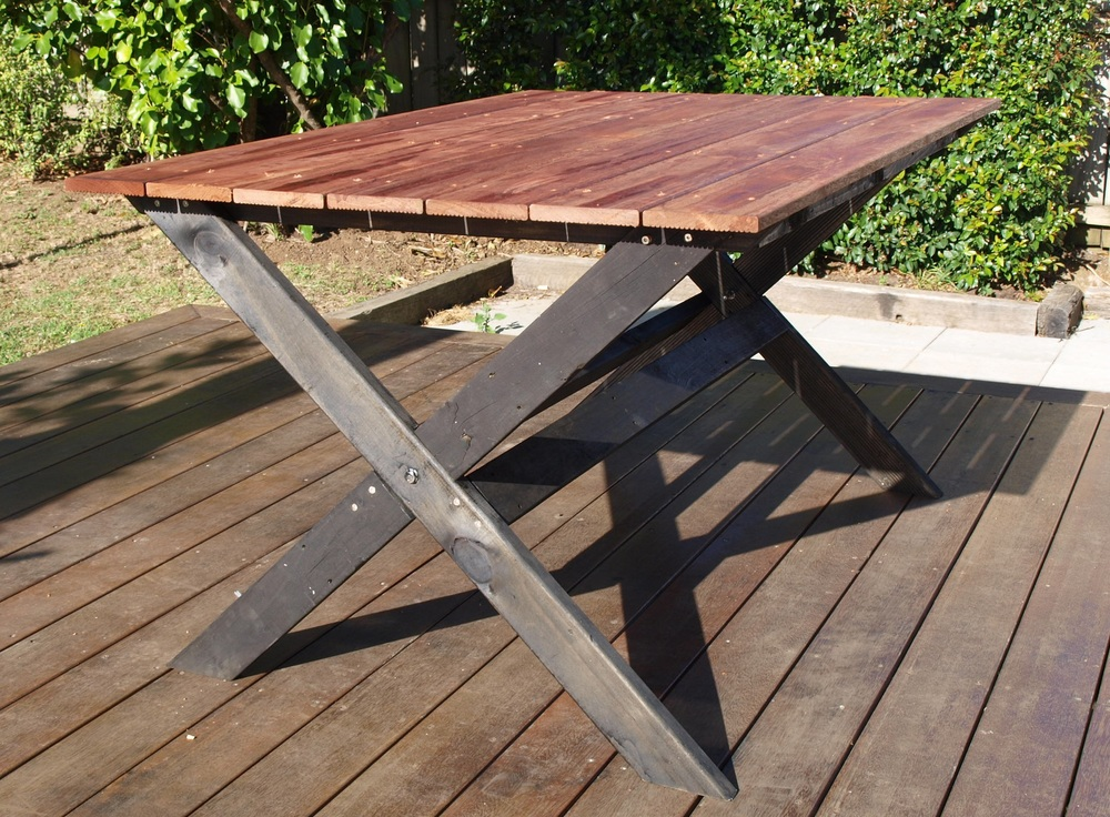 diy project outdoor cross base table pearson projects