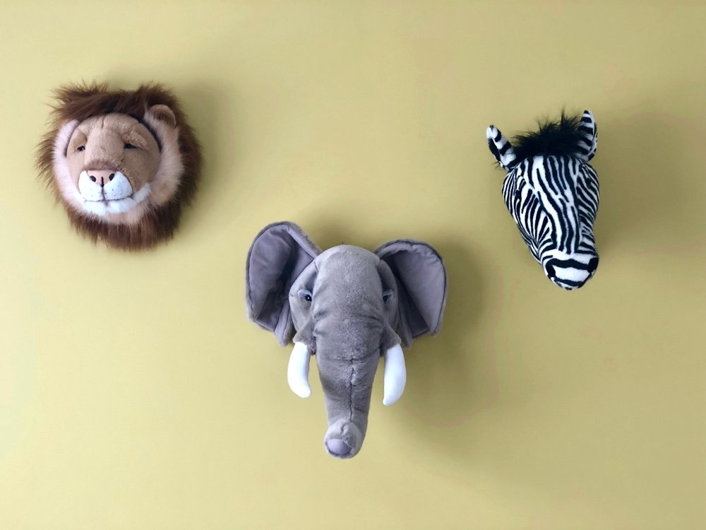 Pearson + Projects Relocatable Reno Kids Room Animal Heads Dulux Mustard Feature Wall.jpg