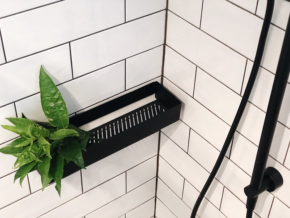 Pearson + Project The Reno Race The Rookies Bathroom Monochrome Clark Shower Rail Subway Tiles Shelf .jpg