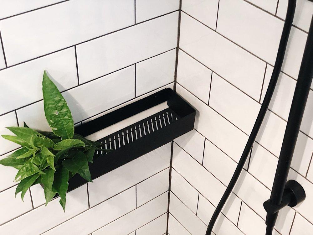 Pearson + Project The Reno Race The Rookies Bathroom Monochrome Clark Shower Rail Subway Tiles Shelf .jpg