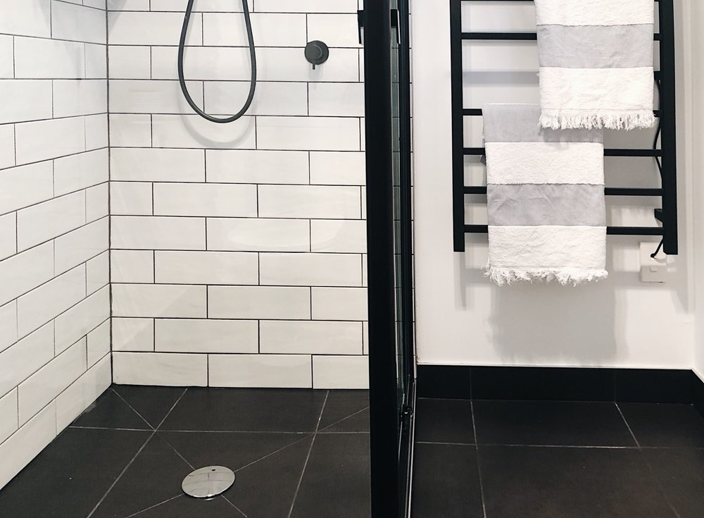 Pearson + Project The Reno Race The Rookies Bathroom Monochrome Tile Clearnace Centre Tiles Subway Black Square Tile Black Grout.jpg