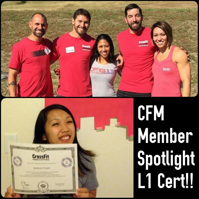 Shout out to @shirleyilenechan and @lynne956 who have recently attended the CrossFit Level 1 Trainer Course. We are so happy to call you CrossFit Milpitas members and proud of your pursuit of knowledge!!
