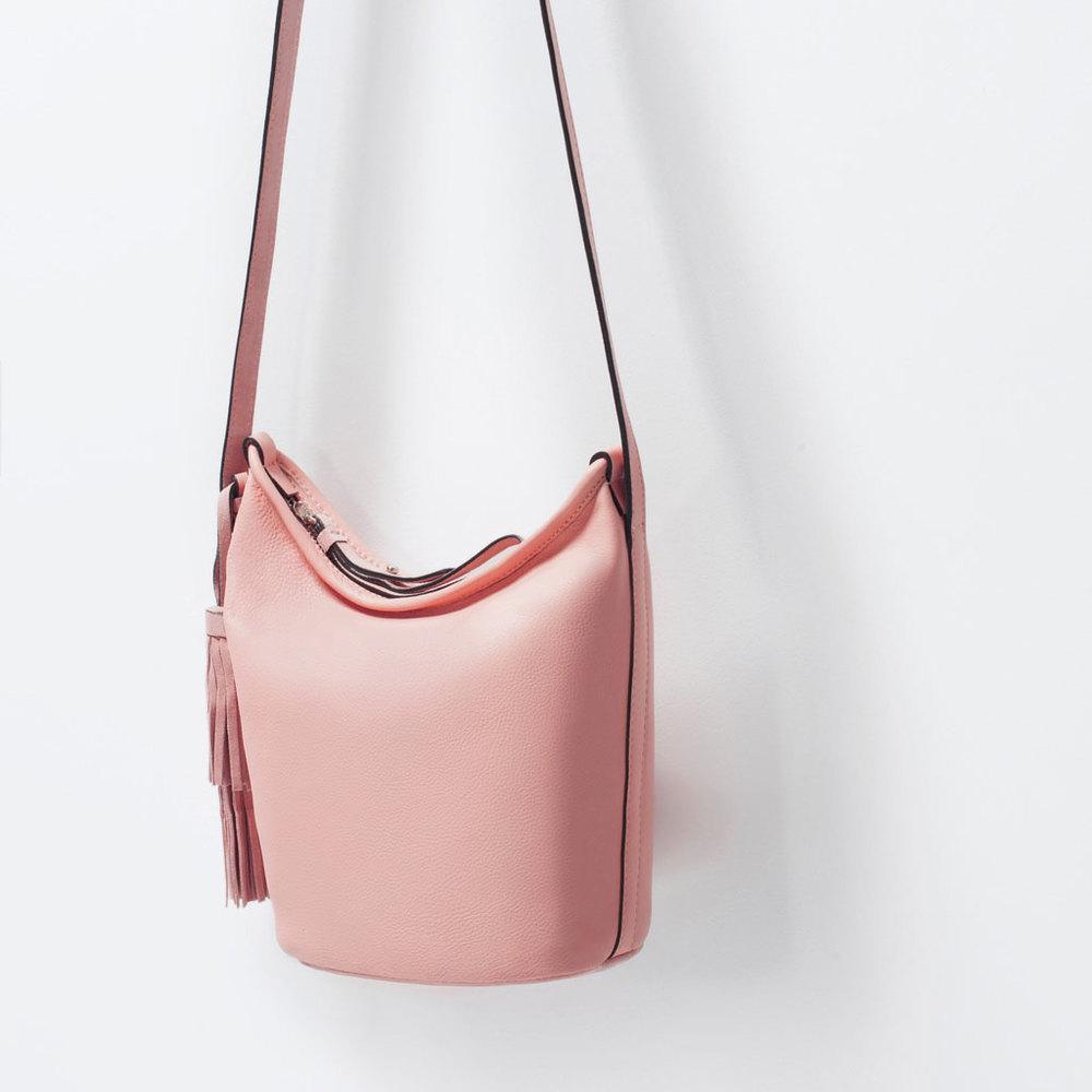 pink zara bag