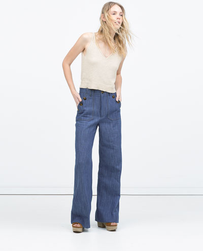 wide legged zara flares