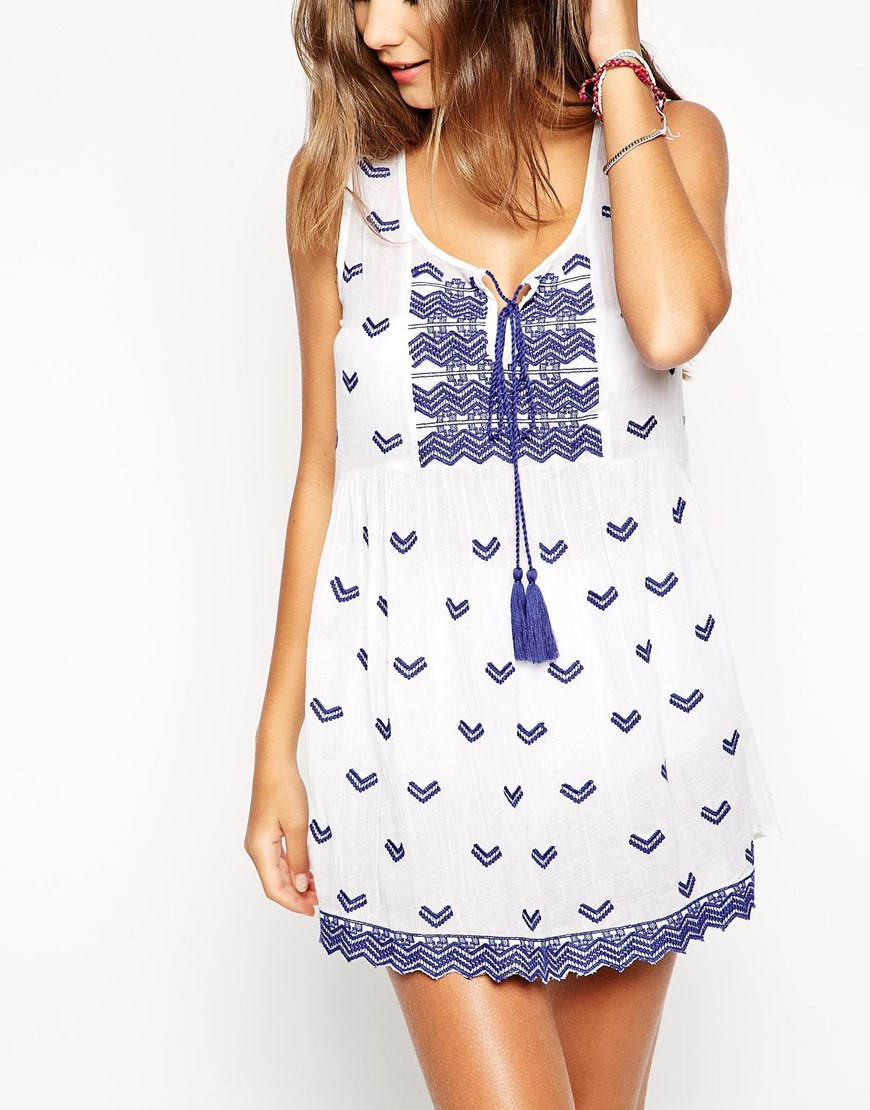 beach smock dress