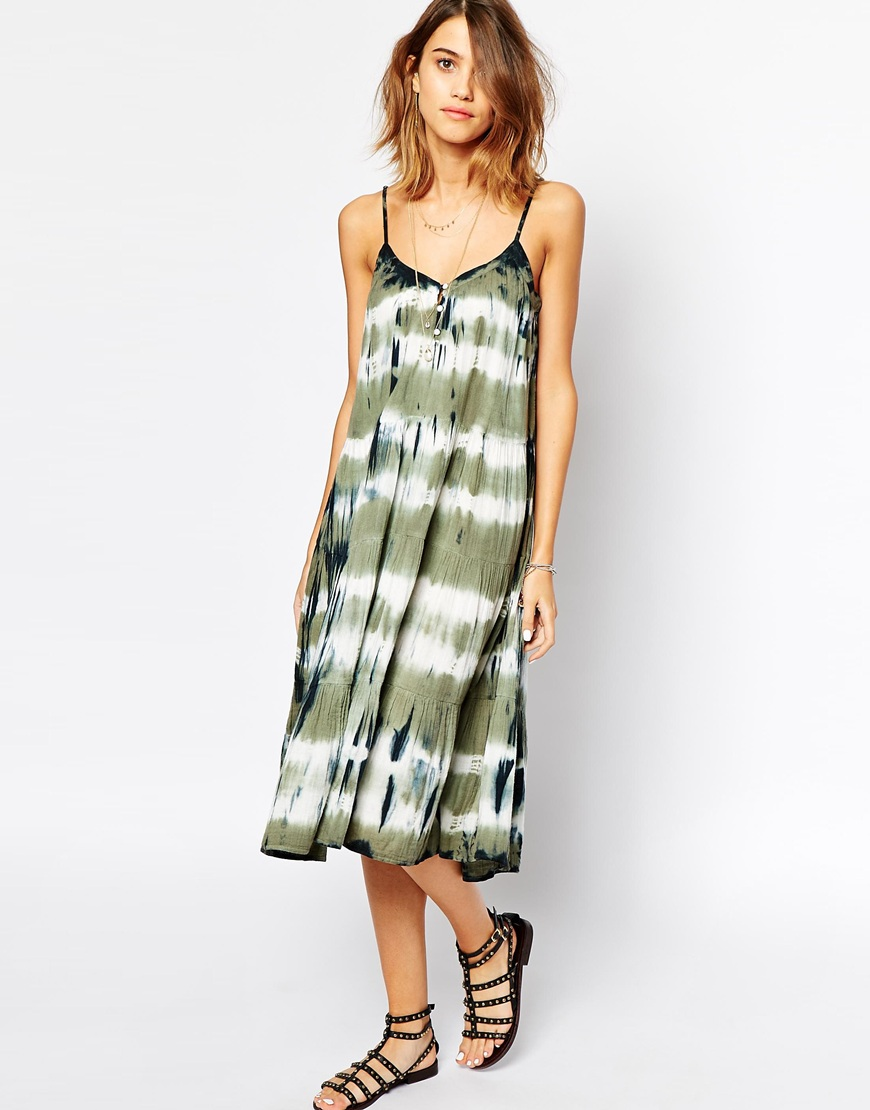 BA&SH Blondie Midi Dress in Tie Dye