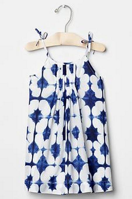 Tie-dye tie-tank dress