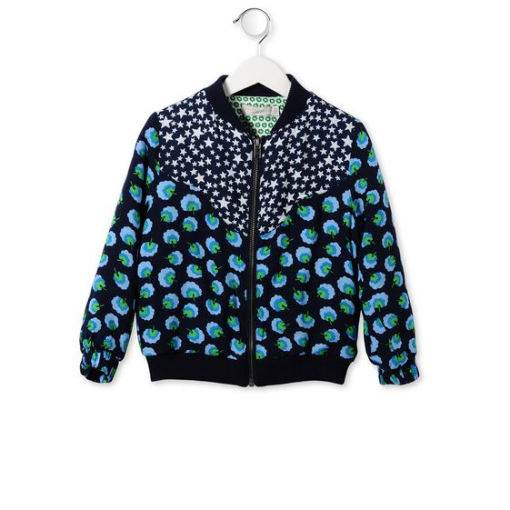 MIDNIGHT MAPLE POM POM PRINT JACKET