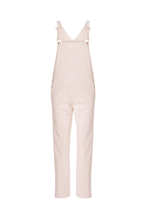 pale pink dungarees