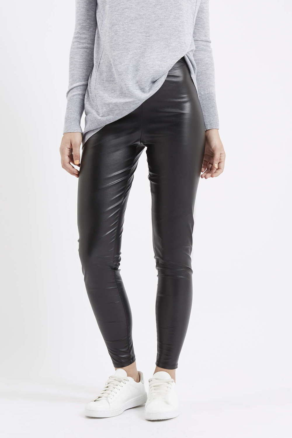 topshop leggings leather