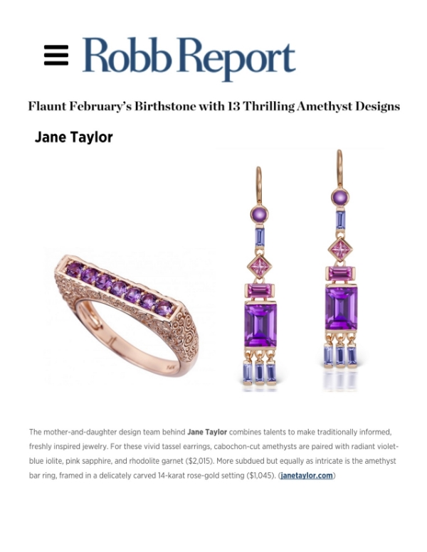 Jane Taylor Jewelry amethyst jewelry on RobbReport.com