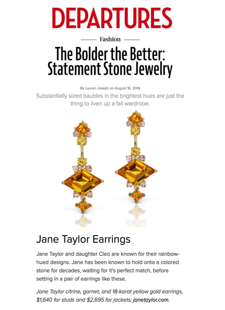 Departures.com - Statement Jewelry - Jane Taylor Jewelry