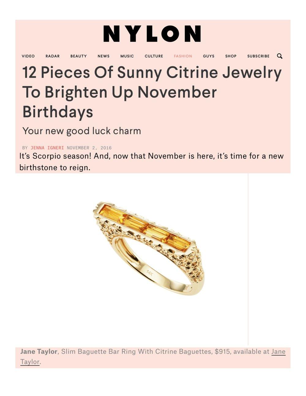 Nylon.com - Sunny Citrine Jewelry - Jane Taylor Jewelry