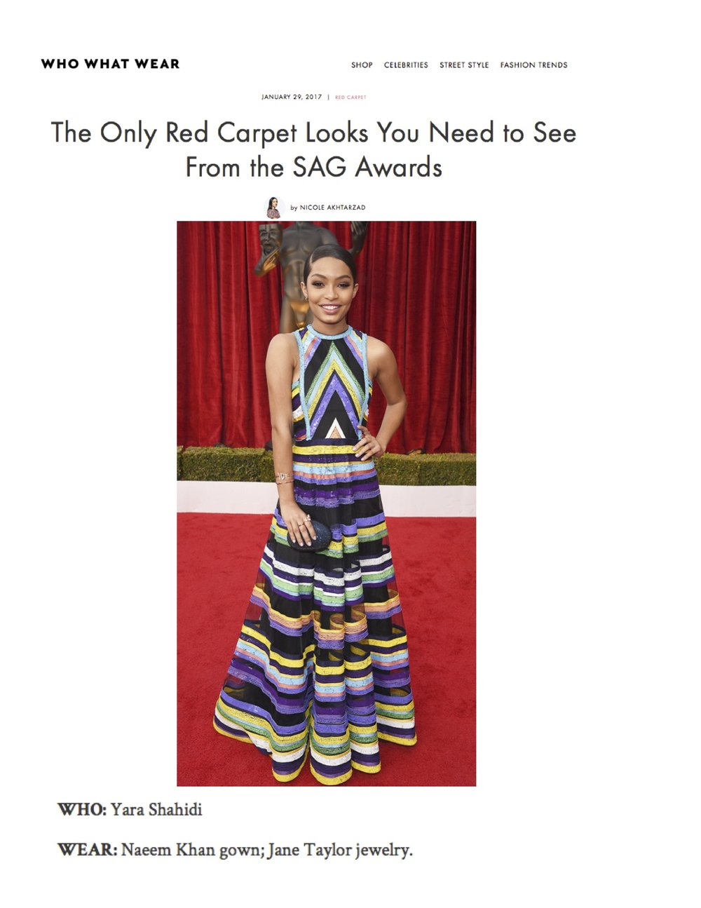 Yara Shahidi in Jane Taylor Earrings, Rings, and Bracelet at the 2017 SAG Awards - WhoWhatWear.com
