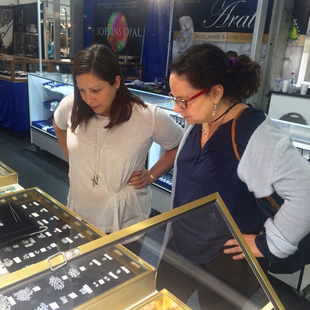 I caught Jane and Jennifer Gandia of Greenwhich St. Jewelers in the same exact pose without them realizing it!