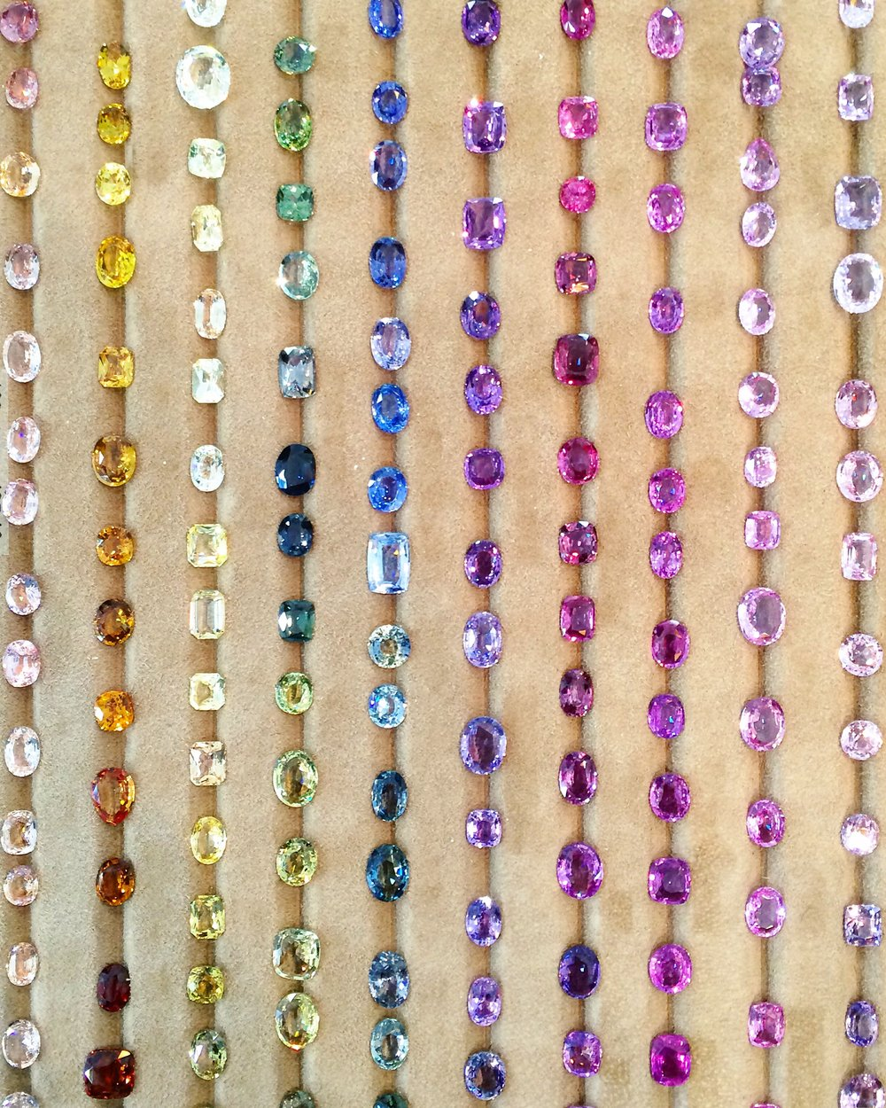 A rainbow of sapphires!