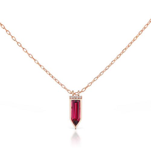 Cirque large arrow necklace with rhodolite garnet jane taylor jewelry cirque large arrow necklace with rhodolite garnet aloadofball Choice Image