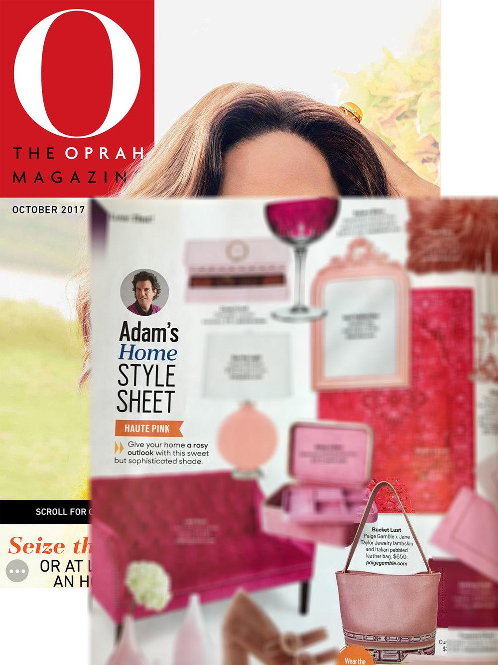 Paige Gamble x Jane Taylor Jewelry Pink Tourmaline Bucket Bag in O, The Oprah Magazine