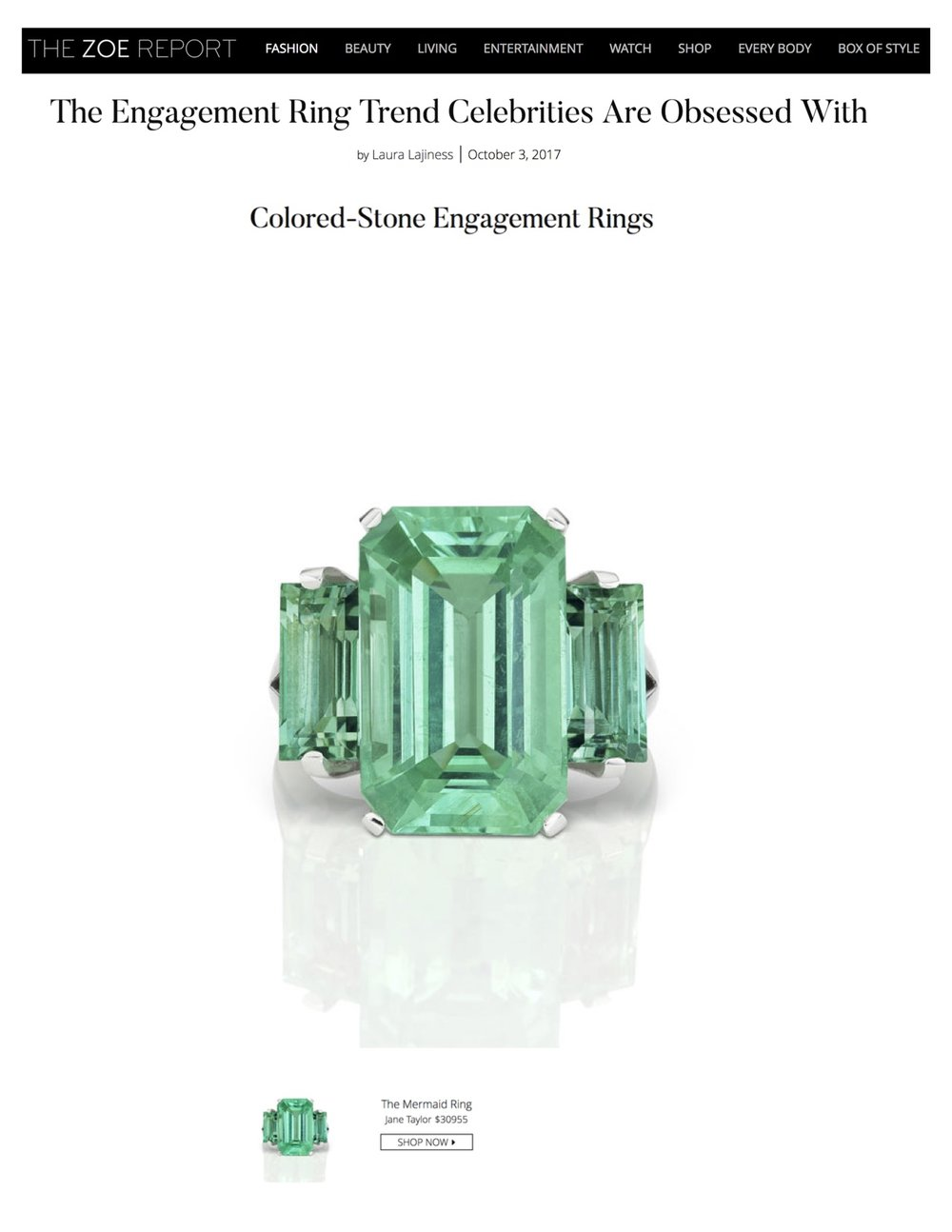 Jane Taylor Cirque Mermaid Ring on The Zoe Report