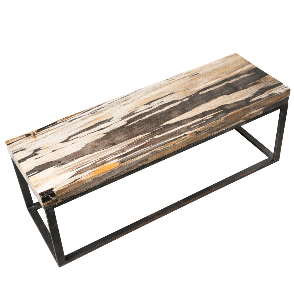 Petrified Wood West Village Coffee Table Bench