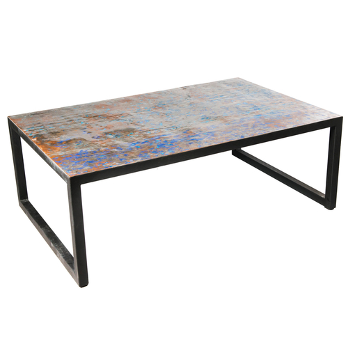 Small Metal Recycled Oil Drum Coffee Table R 1110