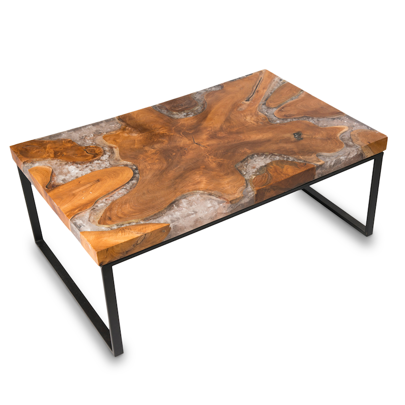 Teak Root And Resin Coffee Table CR 2050