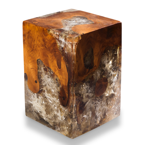 Teak Root and Resin Block Stool CR-2010 — A I R E