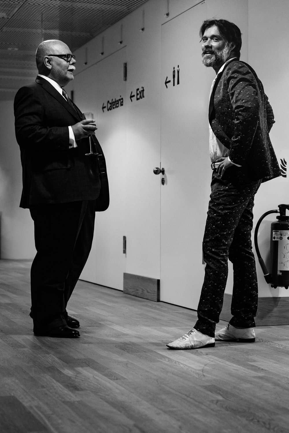 Mark Hummel and Rufus Wainwright post Hamburg concert at the Elbphilharmonie. Photo Credit: Peter Hundert